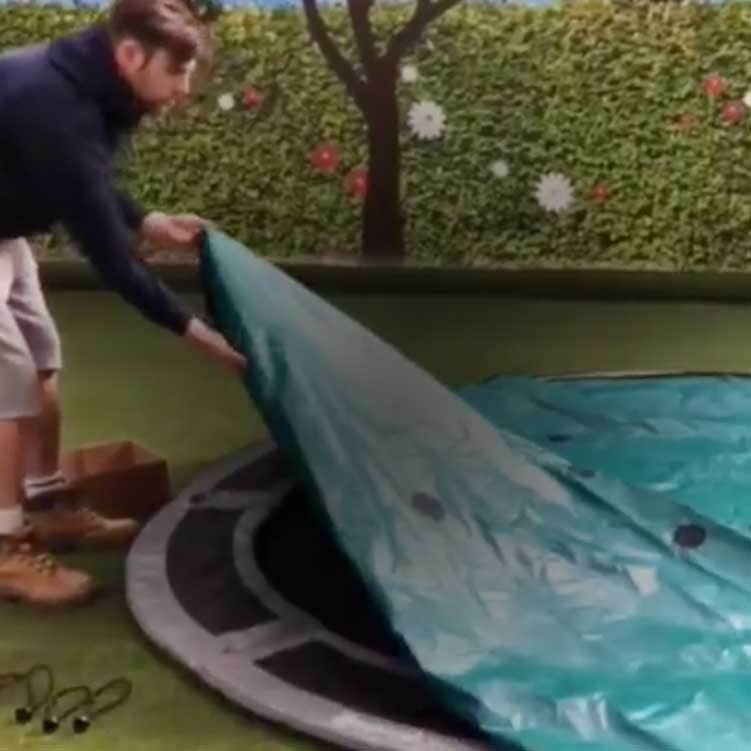 How to attach your in-ground trampoline cover