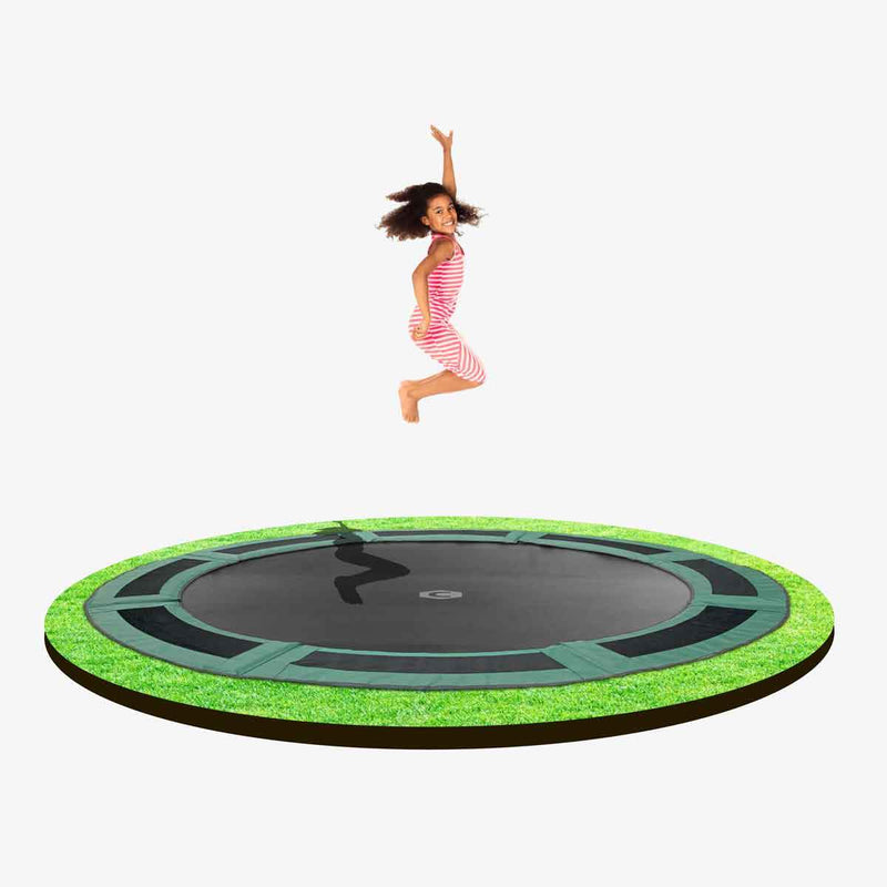 12ft round in-ground trampoline