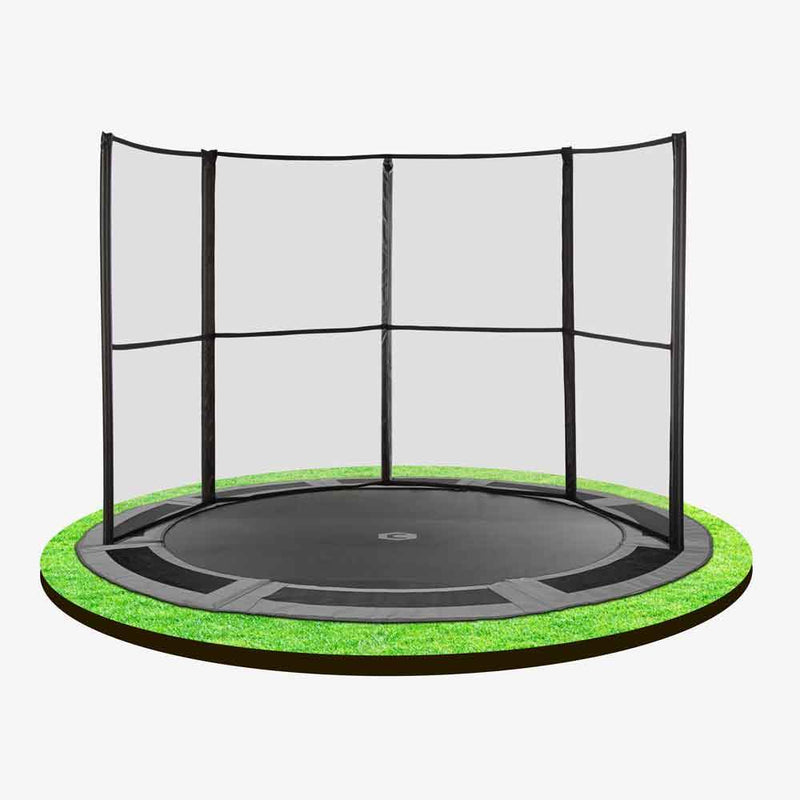 10ft Capital In-Ground Trampoline Enclosure Half