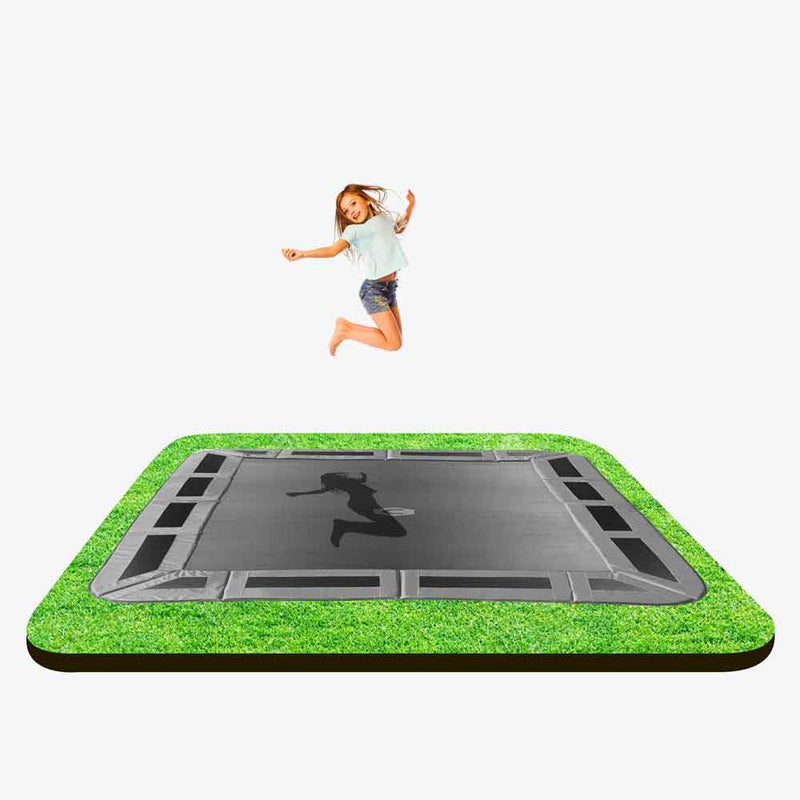 14ft x 10ft rectangle in-ground trampoline