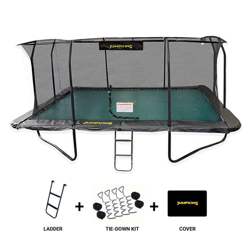 12FT X 8FT DELUXE 12ft x 8ft Jumpking Rectangular JumpPOD Deluxe Trampoline