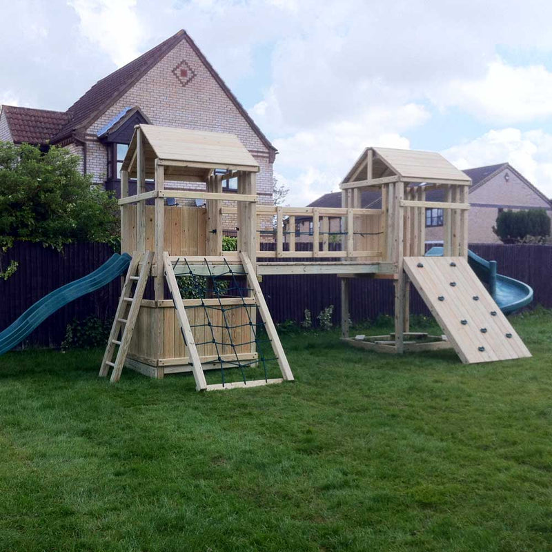 twin tower climbing frame
