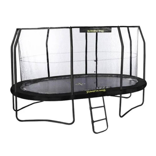 13ft X 9ft (Classic) 13ft x 9ft Jumpking Oval JumpPOD Classic Trampoline - Black