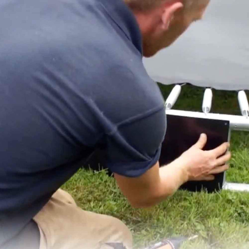 Video of round in-ground trampoline installation