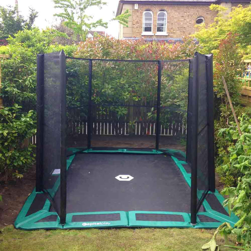 Capital in-ground trampoline in garden
