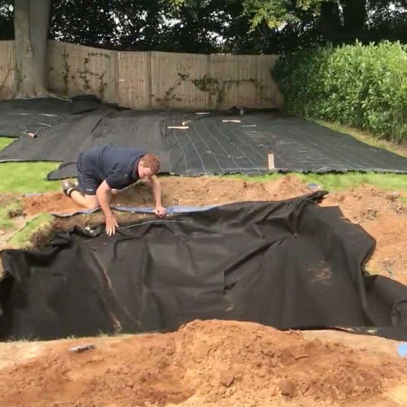 Weed Membrane being fitted