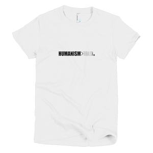 Humanism > Tribalism T-Shirt (Womens)
