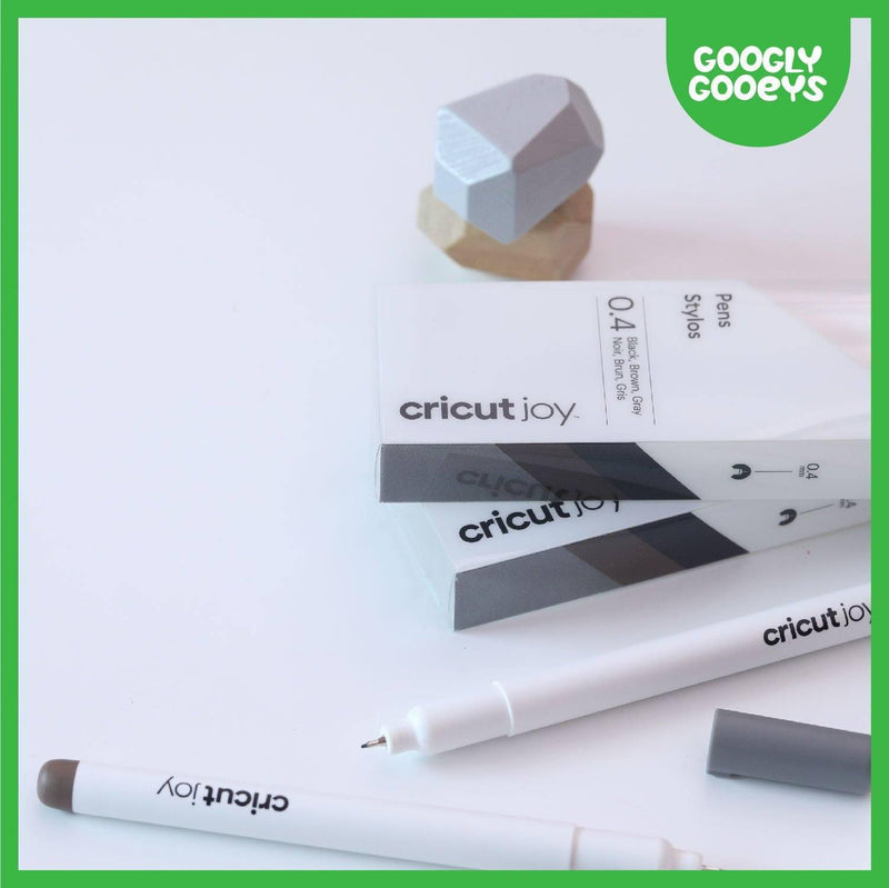 Cricut Joy Fine Point Pens, 0.4 mm (3 ct) | Black, Brown, Gray-Cricut Joy Accessories-[Product vendor]-GooglyGooeys-DIY-Crafts-Philippines