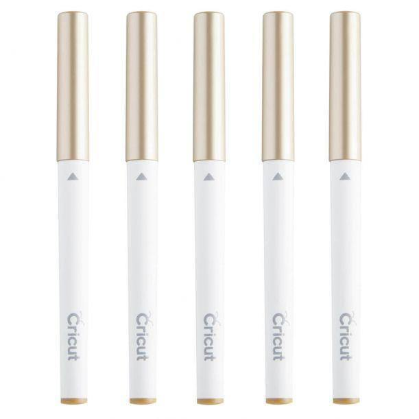 Cricut Multi Pen Set, Gold (5 pcs)