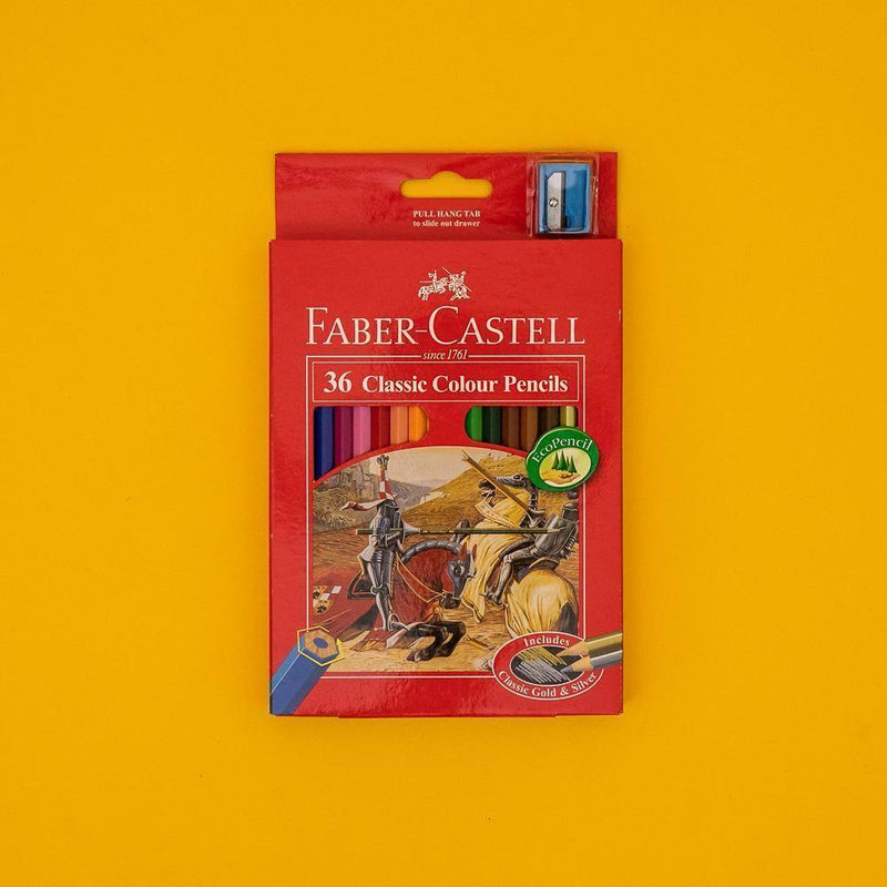 Faber-Castell Classic Colour Pencil Multi Colors Box Set (12,24,36,48,60 Colors Variation)