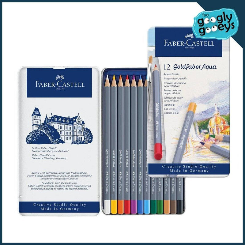 Faber-Castell Goldfaber Watercolour Pencil 36 Color Sets