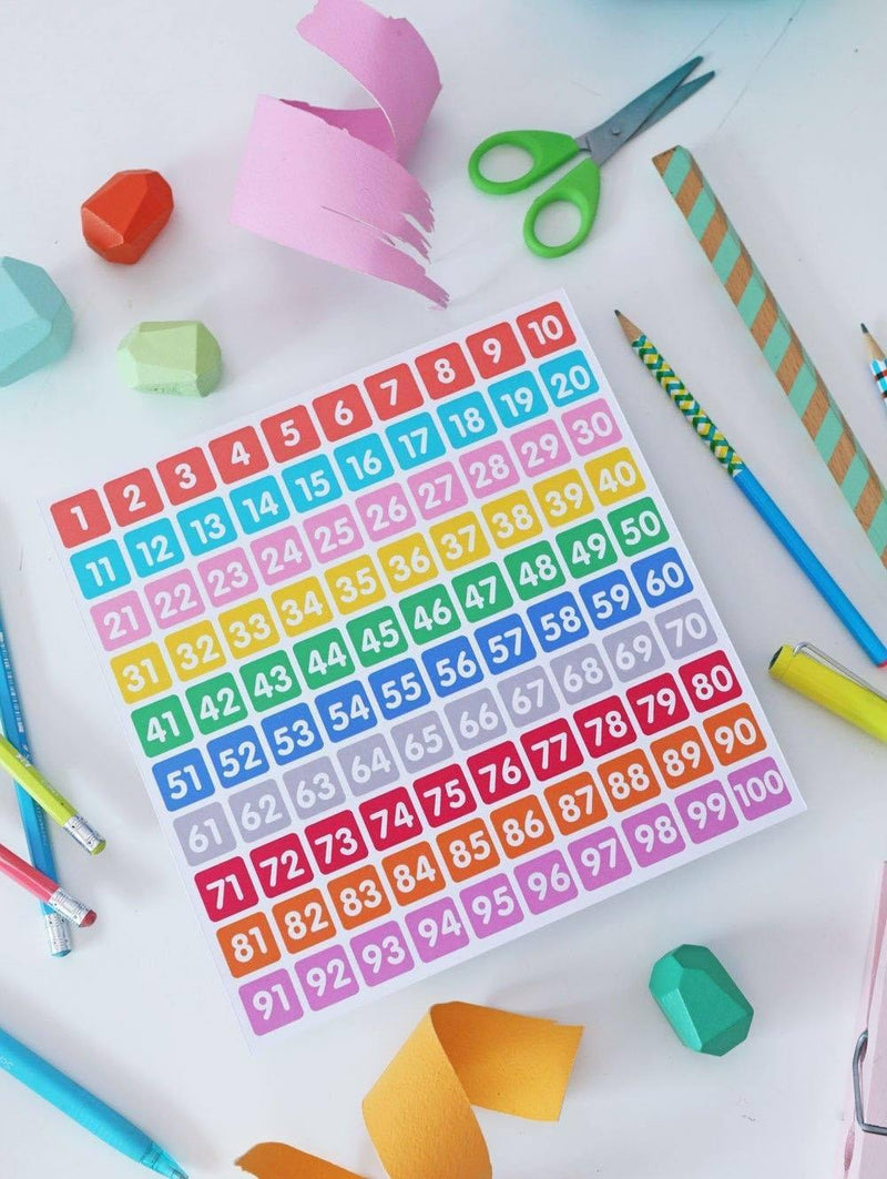 Free Printable: Numbers (1 to 100)