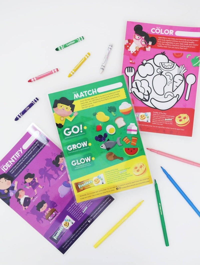 Free Printable: Rebisco Frootees Activity and Coloring Worksheets