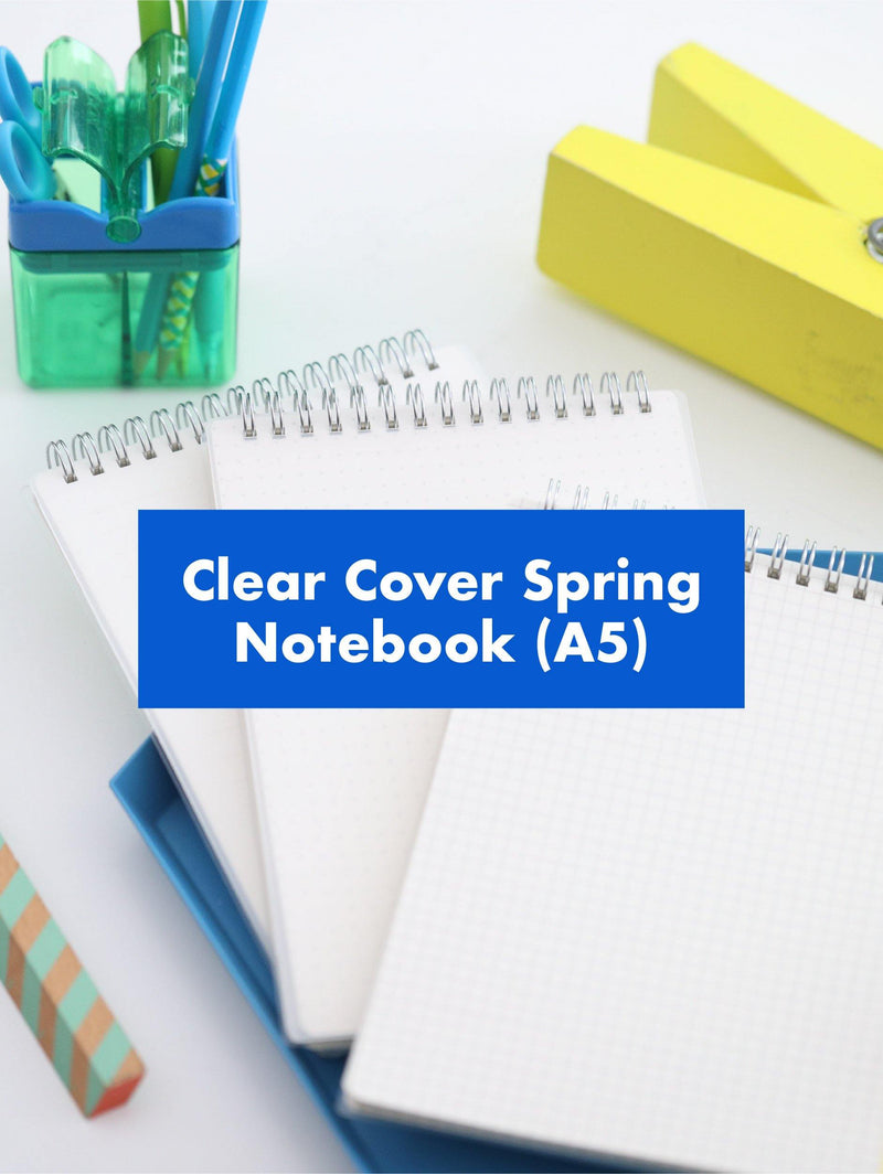 Googly Gooeys Clear Cover Spring Notebook (A5)-Notebooks-GooglyGooeys | Cricut | Arts Craft and DIY Store based in the Philippines