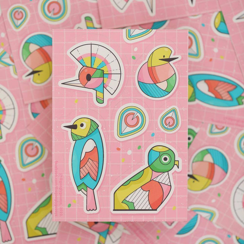 Googly Gooeys Merch - Stickers (Birds)-Merch-[Product vendor]-GooglyGooeys-DIY-Crafts-Philippines