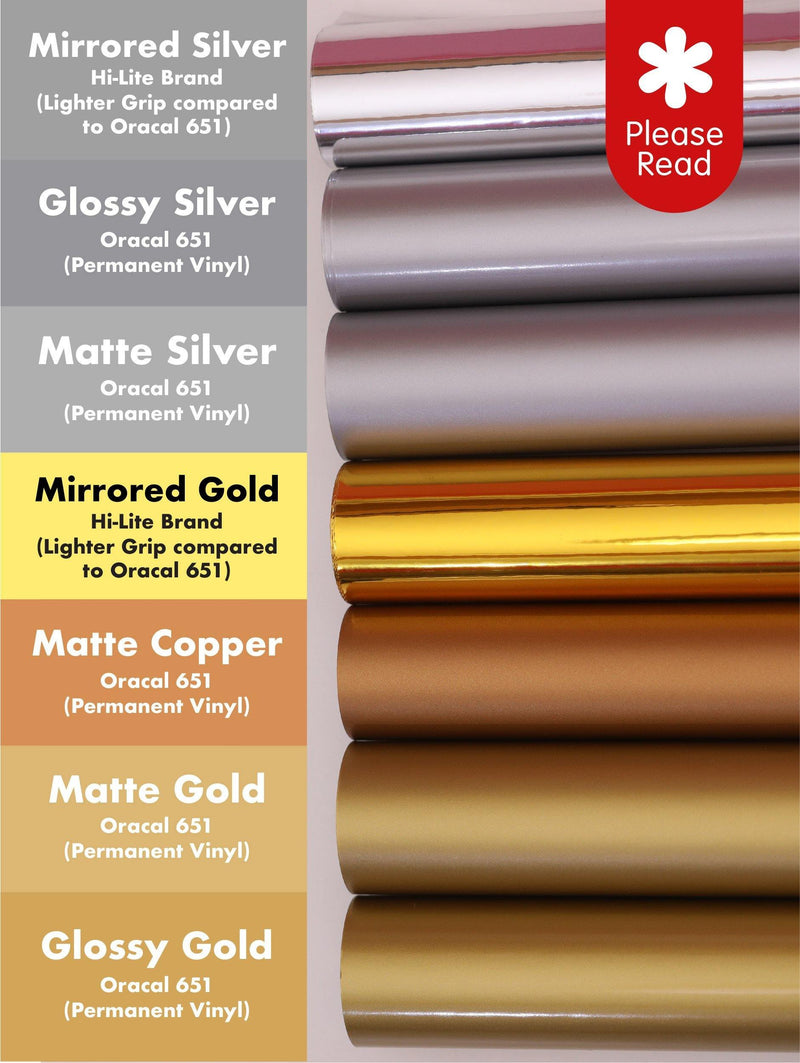 Metallics | Adhesive Vinyl Stickers for Cricut Cutting Machines 12x24--GooglyGooeys | Cricut | Arts Craft and DIY Store based in the Philippines