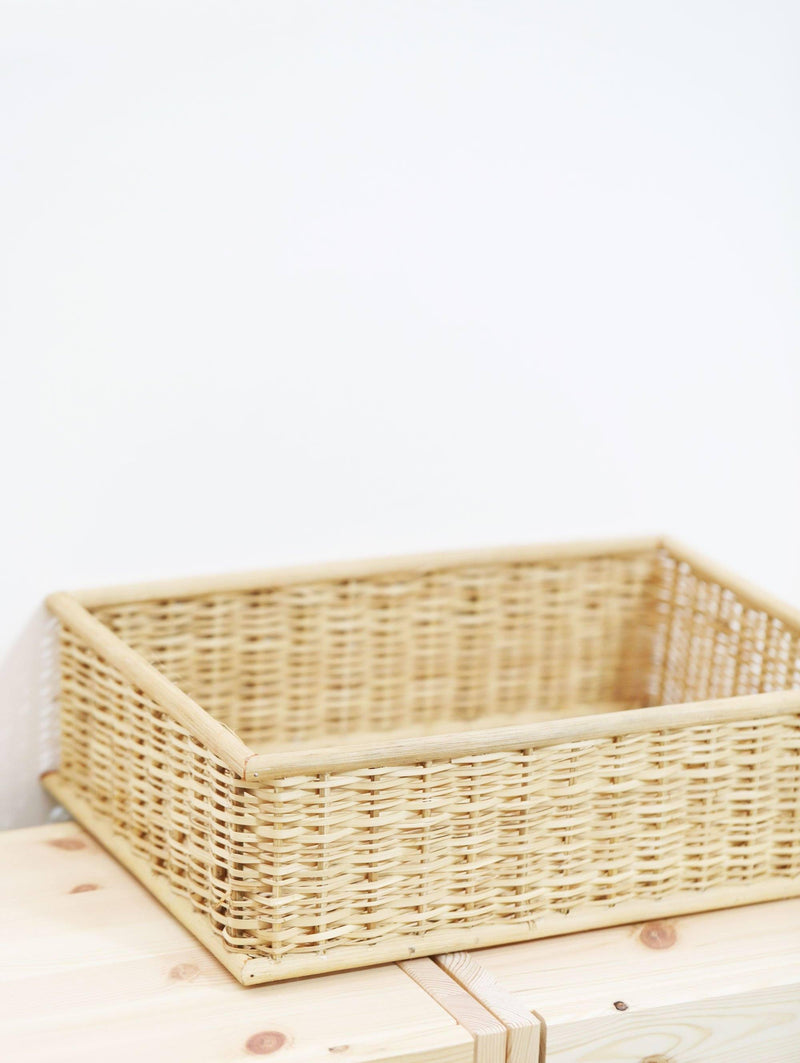Rectangular Woven Basket with Acrylic Label (FREE! 5 Colors Vinyl Alphabet Stickers)-Basket-[Product vendor]-GooglyGooeys-DIY-Crafts-Philippines