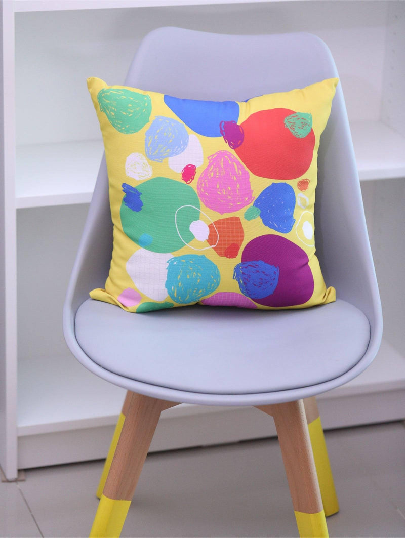 Riley x Googly Gooeys: Abstract Square Pillow--[Product vendor]-GooglyGooeys-DIY-Crafts-Philippines