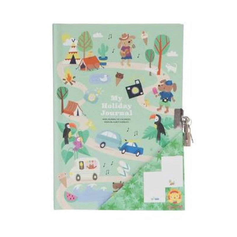 Tiger Tribe Lockable Diary - My Holiday Journal-Toys & Games-[Product vendor]-GooglyGooeys-DIY-Crafts-Philippines