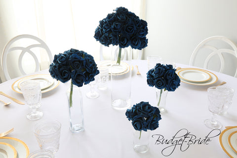 Navy Blue Rose Bundle - #RB013 - $5 - $35