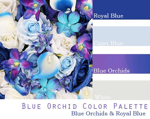 Blue Orchid Color Palette - Elopement Package