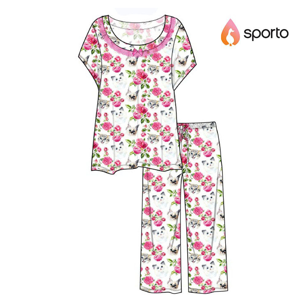Sporto Ladies PJ Capri Pant  Set