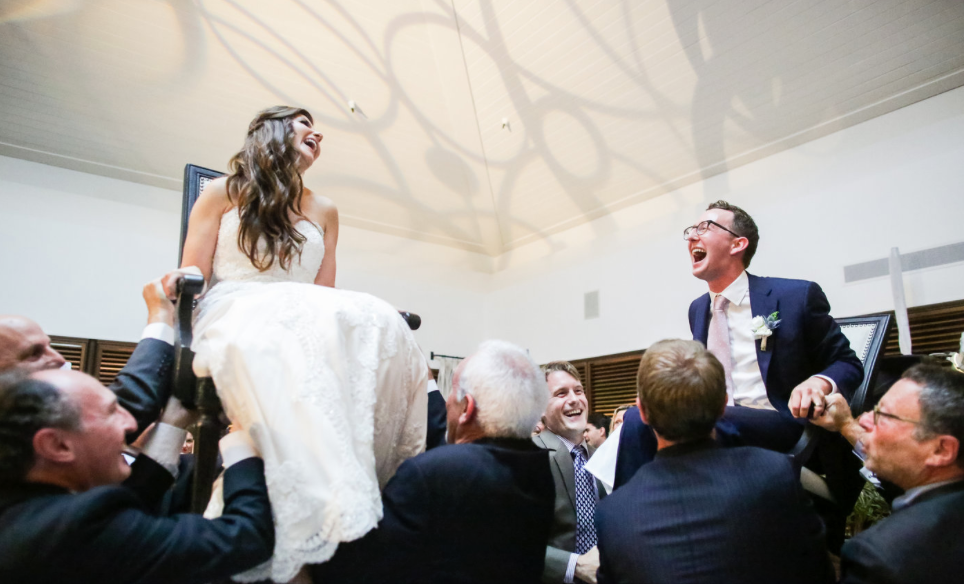 Erin and Justin Wedding at Manhattan Beach Club with Ketubah by Jennifer Raichman Ketubah #ketubah