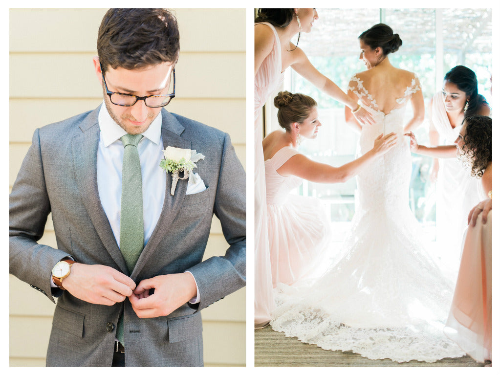 Jordan and Ethan wedding at Solage featuring Jennifer Raichman ketubah