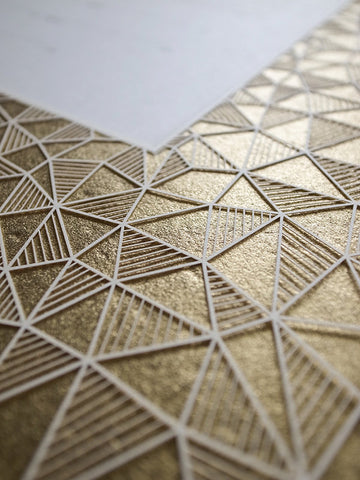 Papercut Ketubah Border Design (Metallic) Geometric