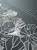 Papercut Ketubah Classic Design (Bookcloth) Tropical Flora
