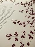 Signature Ketubah Design (Cotton Paper) Sprigs