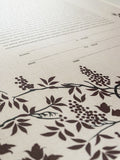 Signature Ketubah Design (Bookcloth) Grapevines