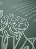 Signature Ketubah Design (Cotton Paper) Tropical Flora