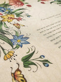 Signature Ketubah Design (Bookcloth) Tattoo Wild Flowers