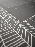 Signature Ketubah Design (Cotton Paper) Chevron Lines