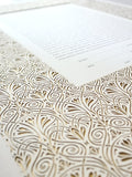 Signature Ketubah Design (Washi Paper) Art Nouveau Lace