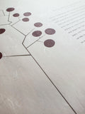 Signature Ketubah Design (Washi Paper) Circle Tree