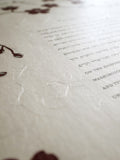 Signature Ketubah Design (Washi Paper) Cherry Blossom Branch