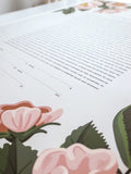 Signature Ketubah Design (Cotton Paper) Blooming Roses