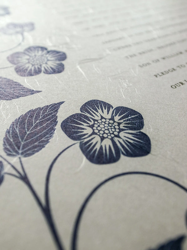 Signature Ketubah Design (Washi Paper) Blooming Garden