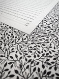 Ketubah Bookcloth Paper - Lace Leaves