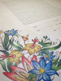 Ketubah Japanese Washi Paper - Tattoo Wild Flowers