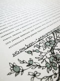 Signature Ketubah Design (Cotton Paper) Branch Frame