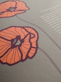Signature Ketubah Design (Cotton Paper) Poppies