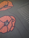 Ketubah Bookcloth Paper - Poppies