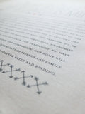 Ketubah Bookcloth Paper - Double Arrows