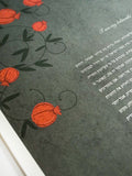 Signature Ketubah Design (Cotton Paper) Pomegranates