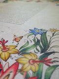 Signature Ketubah Design (Washi Paper) Tattoo Wild Flowers