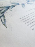 Ketubah Bookcloth Paper - Green Laurel
