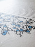 Signature Ketubah Design (Washi Paper) Branch Frame
